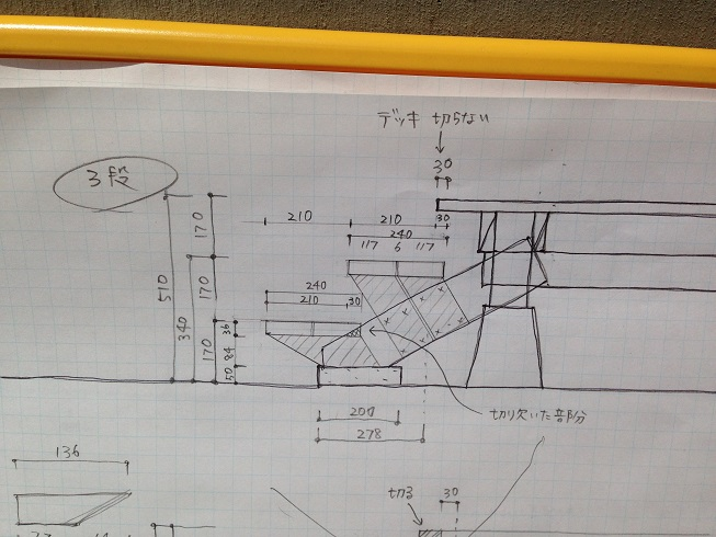 最終的にはこのスケッチを元に、大工さんに造ってもらいました。