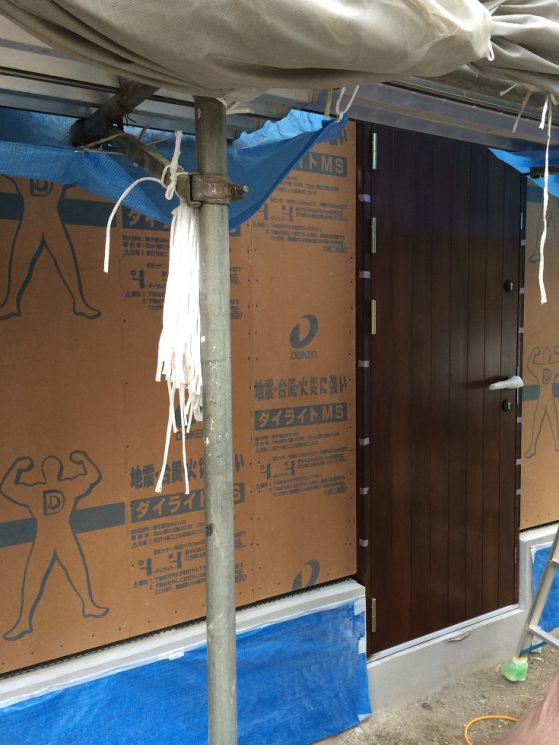 木製玄関ドア設置