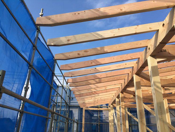 2階バルコニー側の屋根の軒先